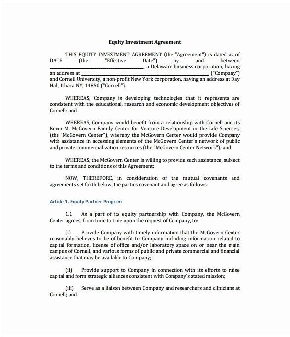 Free Investor Agreement Template Luxury 11 Investment Contract Templates Free Word Pdf In 2020 Contract Template Investing Budget Template