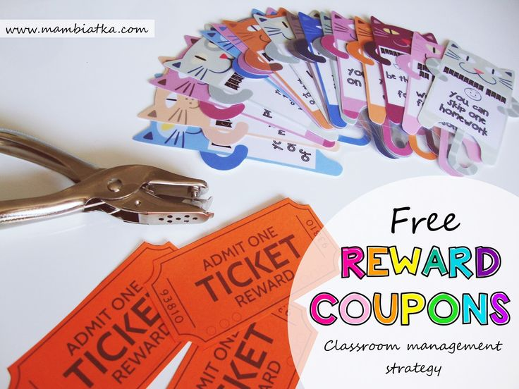 Mambiatka | English for kids | Resources for teachers and parents: FREE Reward Coupons! Classroom management strategy - MOTIVATION