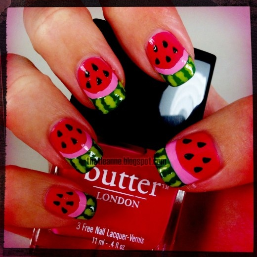 Cute for summer or a picnic!  #pictures #of #nail #designs