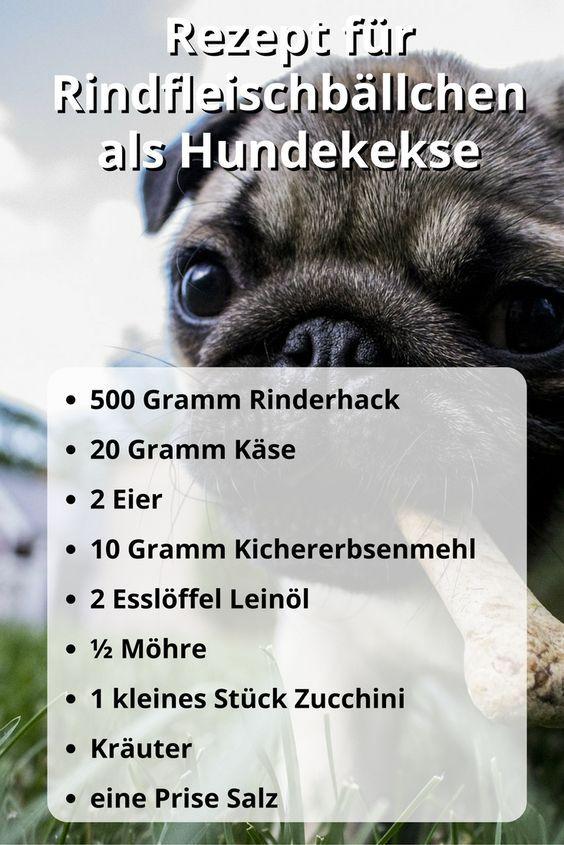 Rezept für Hundekekse mit Rindfleisch
