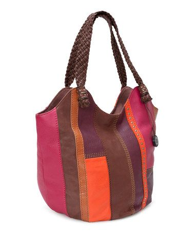 Take a look at this Berry Stripe Indio Tote by The Sak on #zulily today!