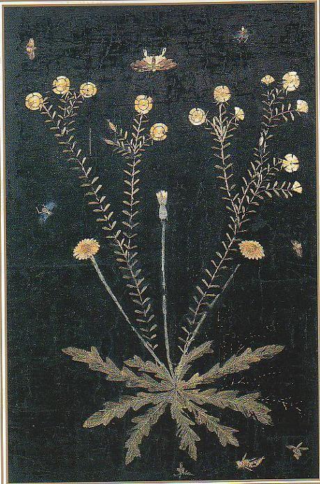 (Korea) Embroidery Folding screens by Shin Saimdang (1504-1551). 65×40cm. Donga University Museum. Treasures No.595.
