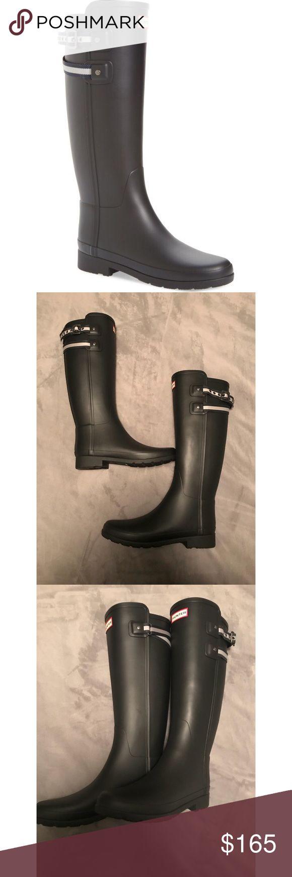 Hunter Refined Tall Black Matte Rain Boots Size 9 Brand new, in shoe box (missing shoe box lid). Hunter Shoes Winter & Rain Boots