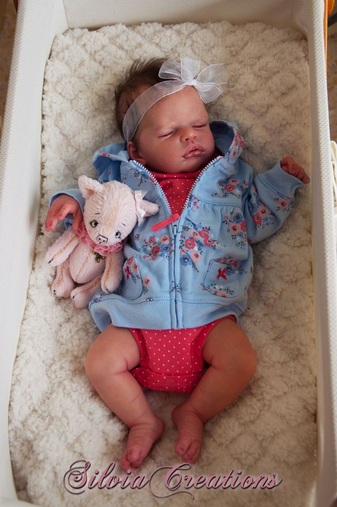Reborn Baby Girl Prototype ANASTASIA SOLD OUT LE Silvia Creations Resell Baby
