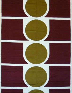 Peter McCulloch, 'Project', Heal Fabrics, 1968 part of our new album cover design, some original McCulloch Project fabric satin weave silk screen printed in 1968 in Chocolate brown and green. Same pattern as this image! Love it!