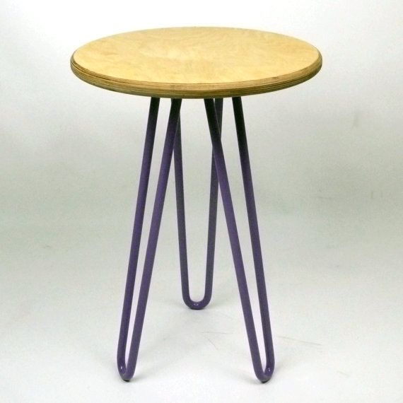 Etsy- Cord Industries | Wooden Side Table / Bedside with Industrial Style Hairpin Legs| £80 (+£15 p&p)