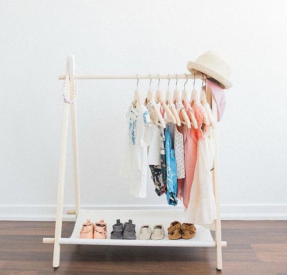 kids garment rack children clothing rack wooden