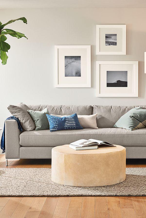 Aero Cowhide Round Ottomans Modern Ottomans Footstools Modern Living Room Furniture Room Board Modern Furniture Living Room Cheap Living Room Rugs Round Ottoman #room #and #board #living #room