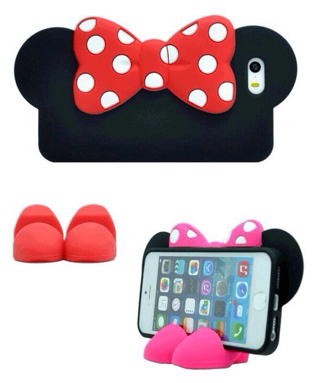 Please follow!!!! Silicone Mickey/Minnie Mouse Case Back Cover Bumper for iPhone 5/5S