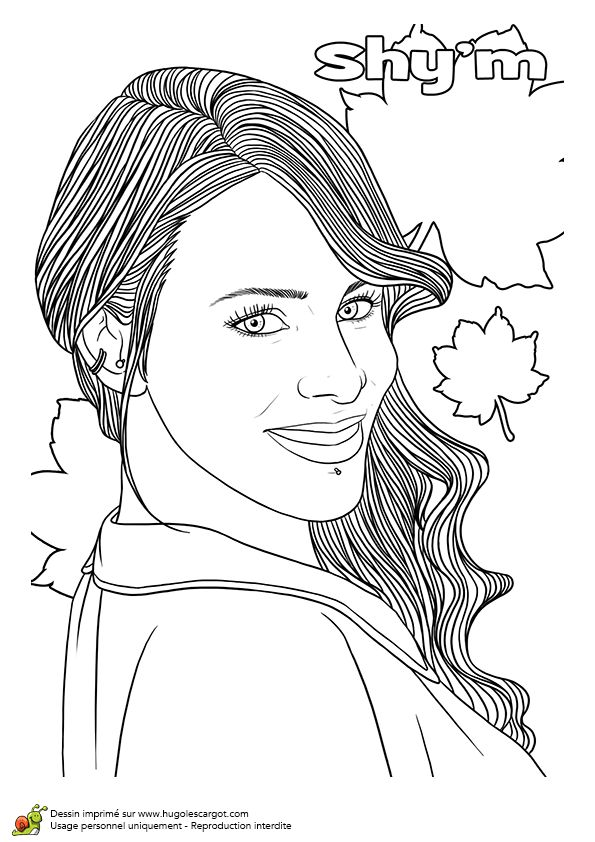 1000 images about coloriage on pinterest tvs pharrell williams and la mode - Coloriage de tal ...