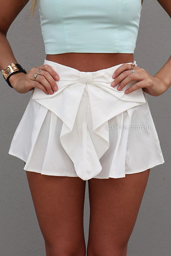 BOW SHORTS , DRESSES, TOPS, BOTTOMS, JACKETS & JUMPERS, ACCESSORIES, 50% OFF SALE, PRE ORDER, NEW ARRIVALS, PLAYSUIT, COLOUR, GIFT VOUCHER,,SHORTS,White Australia, Queensland, Brisbane