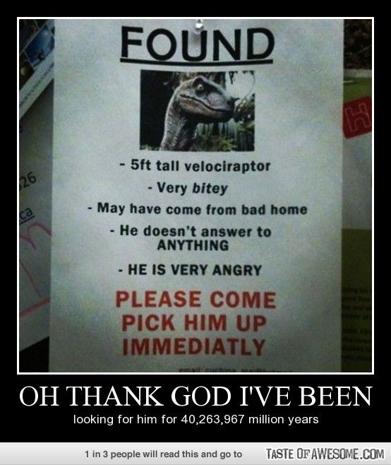 An excellent idea. Especially if placed next to a lost cat poster - Oooo I think Crowley's been messing with my mind