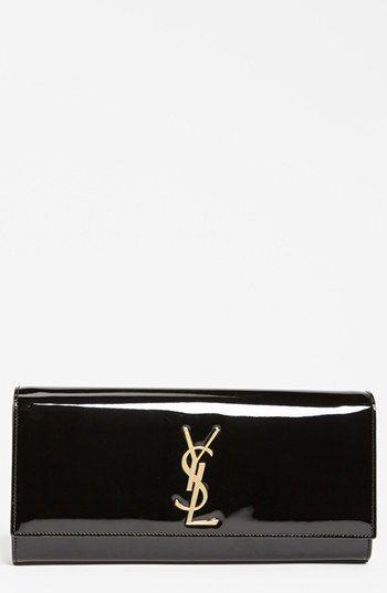 Saint Laurent \u0026#39;Cassandre - Laque\u0026#39; Leather Clutch available at ...