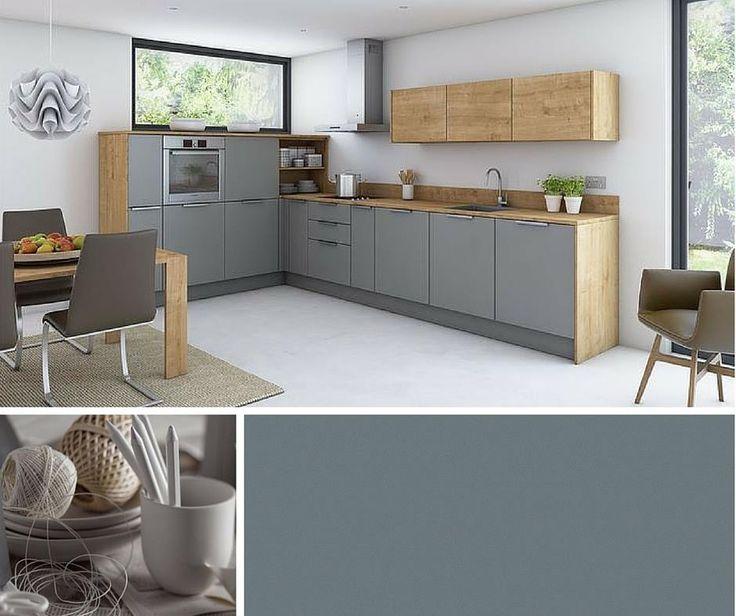 Ausstellungsküche Grau\/Matt bei Innova Mitte Ljubo doma - küche hochglanz oder matt