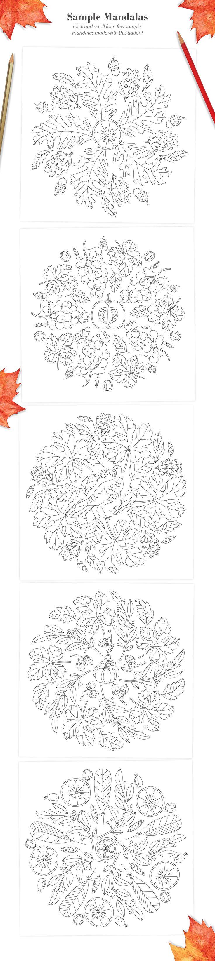 Autumn Harvest Mandala Creator by everdrifter
