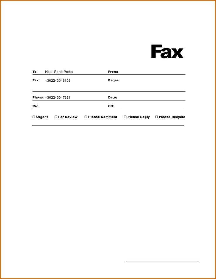 fax template word doc formal png simple cover sheet letter pdf best business