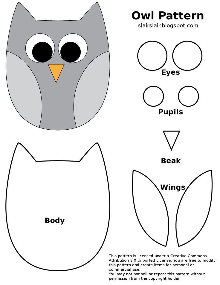 Best 25 owl templates ideas on pinterest owl embroidery for Owl templates for sewing
