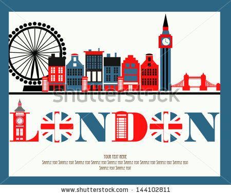 I love London - stock vector