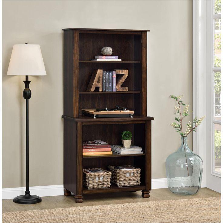 Ameriwood Home San Antonio Wood Veneer Bookcase (Bookcase, espresso), Brown