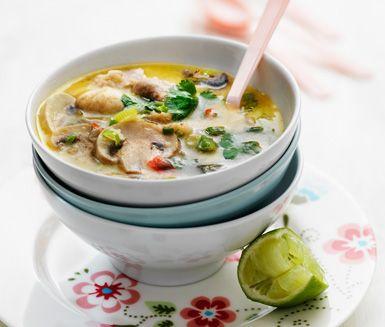 THAI Tom kha gai (kycklingsoppa) - Mitt kök