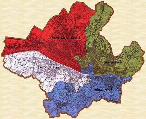 The four historical district  I quattro storici quartieri