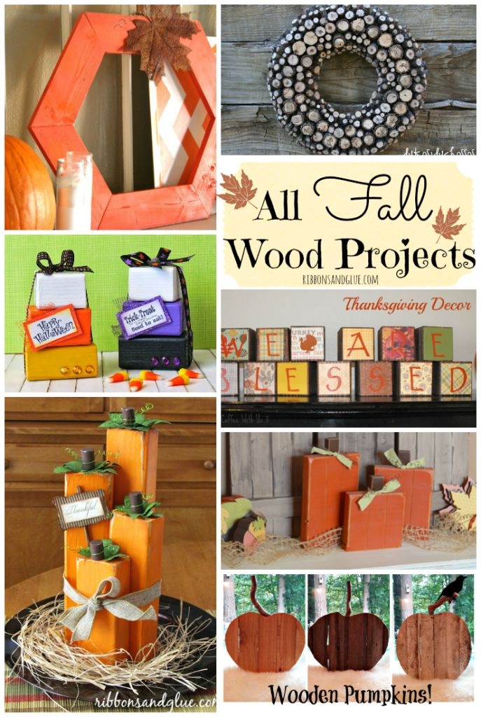 Roundup of unique project for Fall all made out of Wood! Great craft projects for all levels!