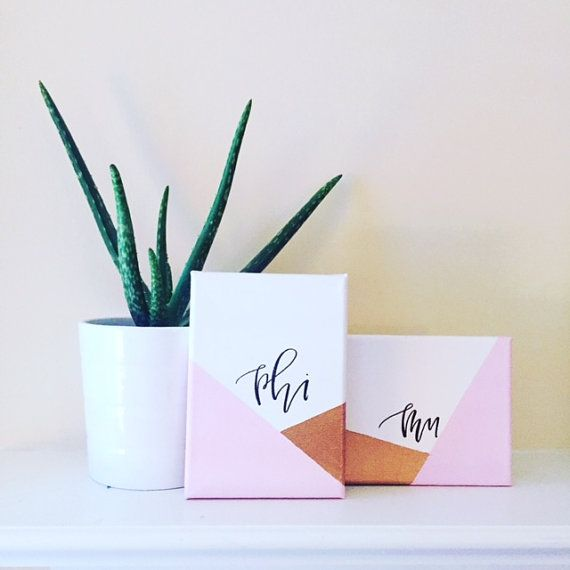 Sorority Canvas Set of 2  Modern and Chic by SouthMagnoliaMarket
