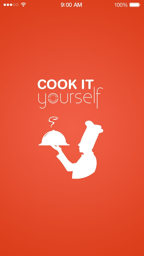 Splash - UX UI Design app Cook it Yourself by Pakortiz