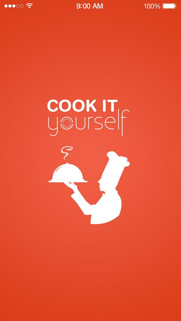 Splash - UX UI Design app Cook it Yourself by Pakortiz