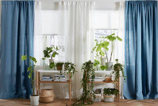 IKEA Gardinen, wie z.B. AINA Gardinenpaar, blau