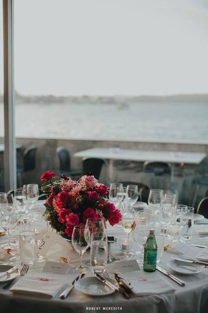 Guest Tables at Catalina Rose Bay. Image Robert Meredith.