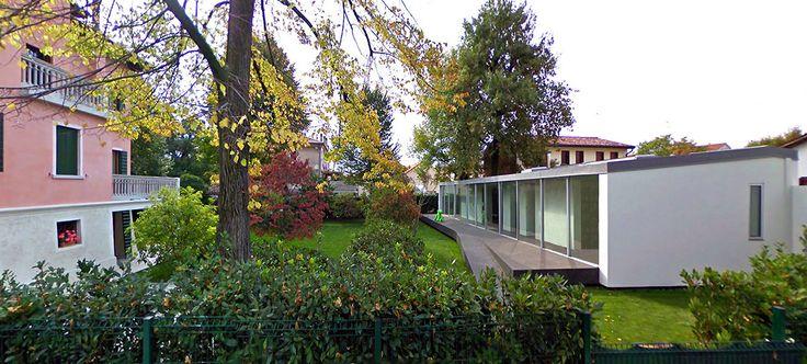 neo-gothic villa extension by zanon architetti associati