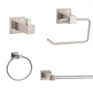 Sure-Loc Modern 4-piece Bathroom Accessory Set - Overstock™ Shopping - Great Deals on Sure-loc Bathroom Hardware