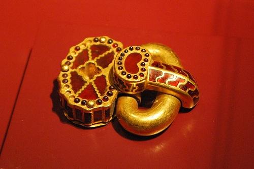 Golden buckle Dacian culture Romania