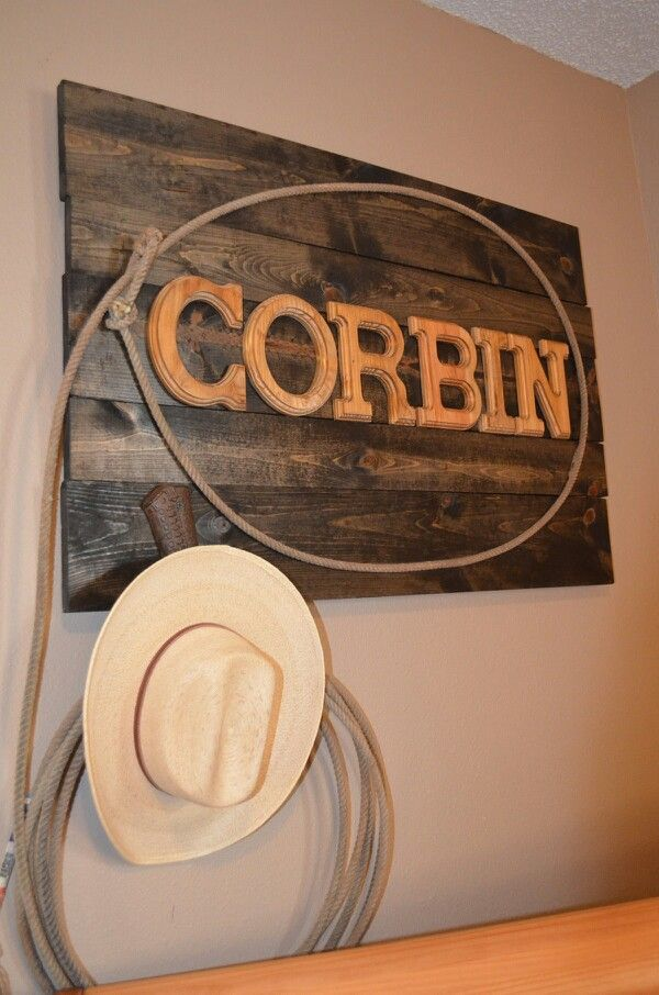 Without cowboy gear. Wood plank/jack or baby name.