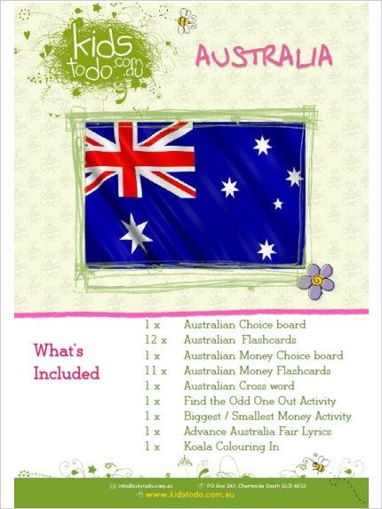 Australia themed learning activities (free downloads).