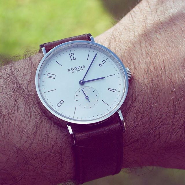 The Bauhaus today. Amazing value and great way to try before spending bigger dollars on a Bauhaus Stowa or Nomos. #Bauhaus #bauhauswatch #seagull #seagullwatch #wis #womw #watchnerd by selenelion