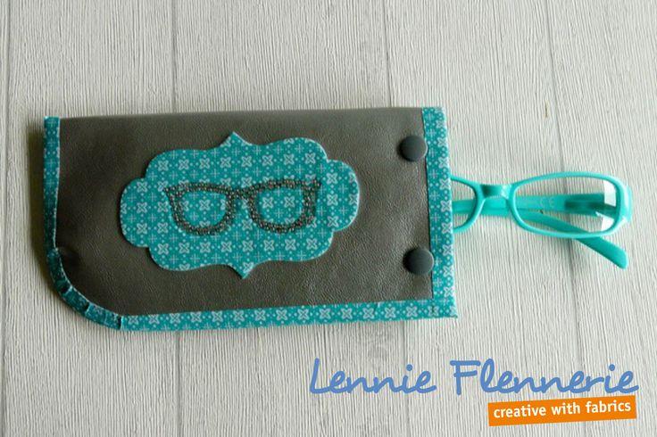 Sunglasses case, brillenhoesje http://lennie-flennerie.blogspot.nl/2015/03/brillenhoesje.html