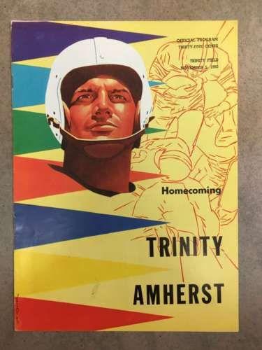 AMHERST-COLLEGE-TRINITY-COLLEGE-FOOTBALL-PROGRAM-1960-EX-NM