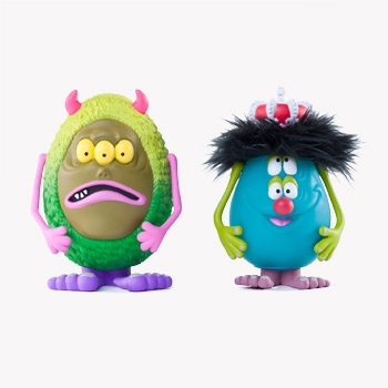 CHARLIE & COSMIC GARBAGE 2-PACK  6-INCHSilly Monsters, Toys Collection, Design Toys, Toys Character, Monsters Parties, Cosmic Garbage, New Products, Shops Kidrobot, Design Vinyls