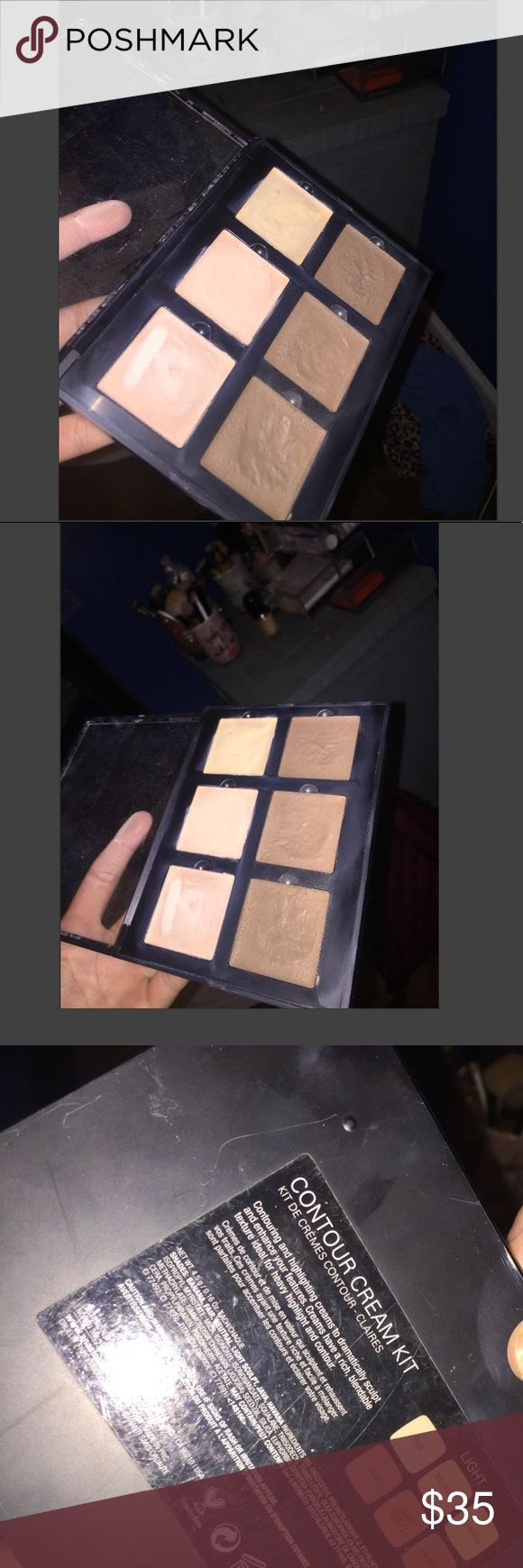 Abh cream contour kit Authentic. Used but still in great conditon. No where near hitting pan on any of the colors Anastasia Beverly Hills Makeup