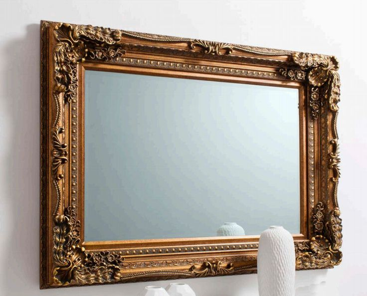 Carved Louis Mirror in Gold   Temple & Webster