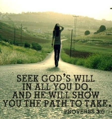 Seek God's will and He will show me the path.