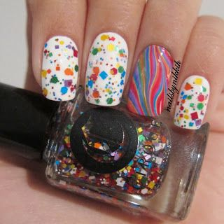 Cirque Colors KALEIDOSCOPE shown over white with rainbow accent