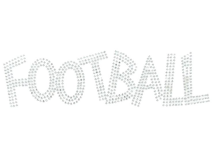 Rhinestone Football Iron-On Design $3.99-wonder if they have hockey