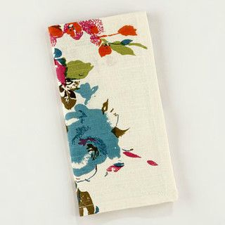 Watercolor Floral Napkins - contemporary - napkins - by Cost Plus World Market