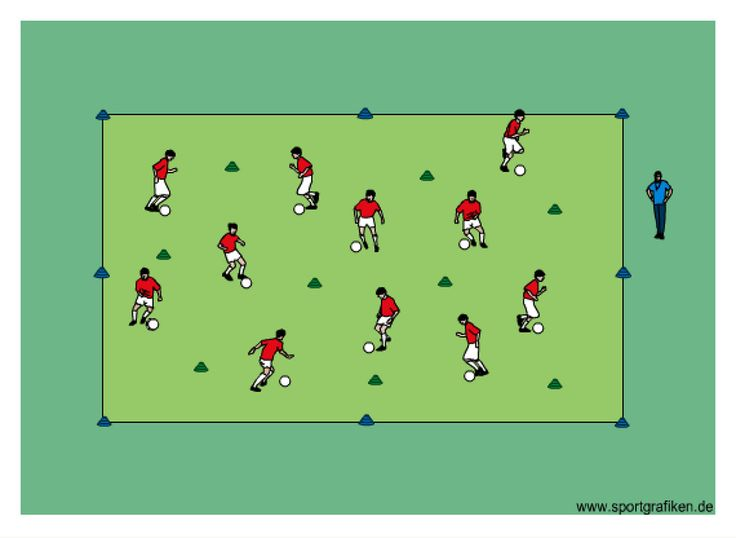 http://www.top-soccer-drills.com/ball-control-u6-u8.html   Description: • players dribble with changes of direction & speed and on coach's command    #youth #soccer #drills #ball control