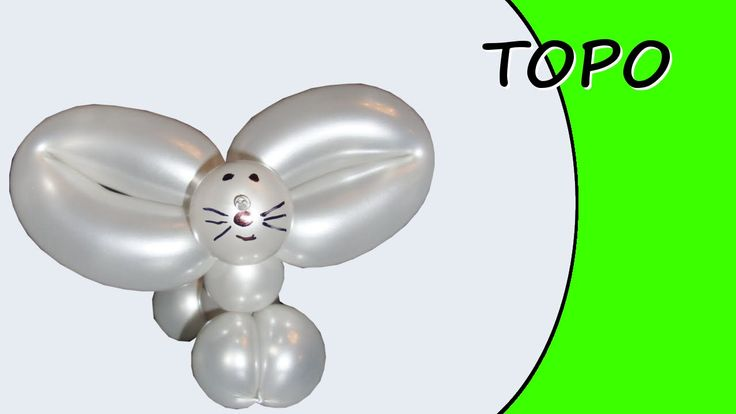 Video tutorial on how to make a mouse with balloons twisting #mouse #topogigio