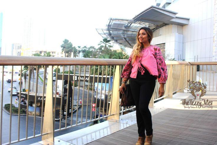Zara Pink Jacket Embroidery Boho big sleeves bohemian fashion blog Dubai style blogger UAE lifestyle tie up jacket look of the day fashionista (1)