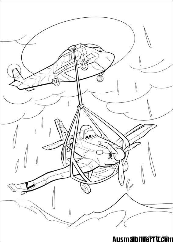 Ausmalbilder Planes Vymaľovanky Lietadlá